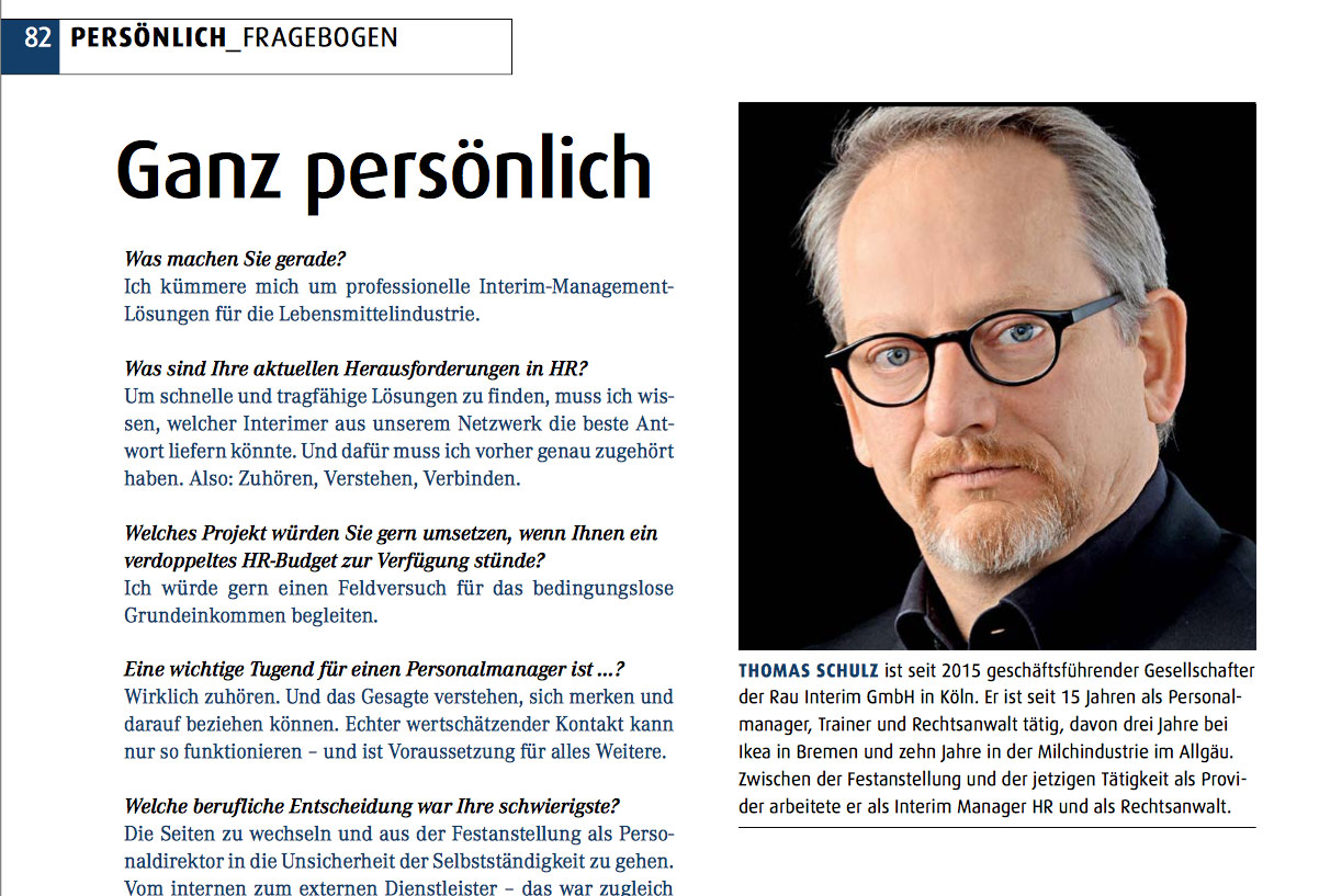 Thomas Schulz im Personalmagazin Interview